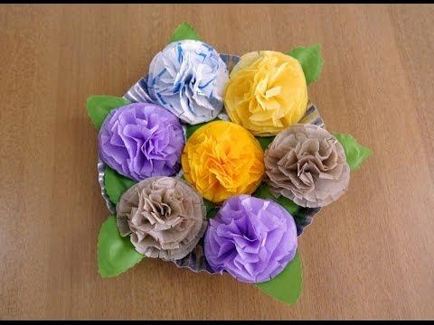 Easy & Beautiful Napkin Flowers (Tissue Flowers)Tutorial ~ Room Decor ~ DIY ~ Instructions ..