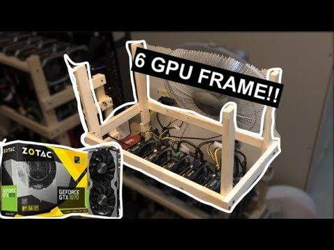 Ultimate 6 GPU Mining Frame Tutorial!!