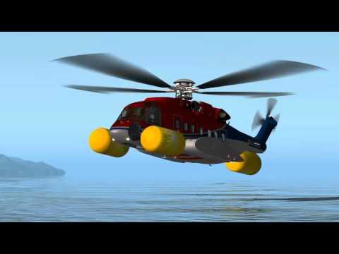 Sikorsky S-92 Simulator Tutorial #2 - Autorotation & Water
