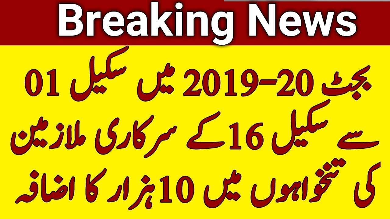 Increase Pay in Budget 2019-20 for Govt Employees | Increase Pay for  government Servants |