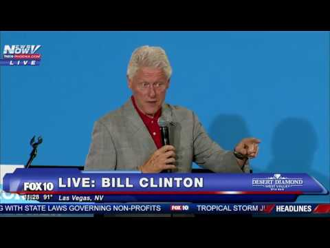 Bill Clinton Steps In For Hillary - Las Vegas Rally 9/14/16