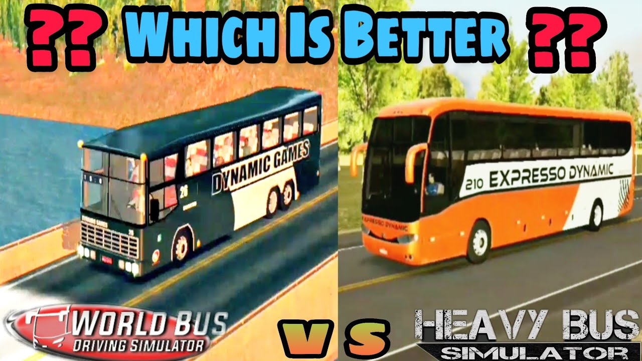 🔴World Bus Driving Simulator | VS | Heavy Bus Simulator | comparison Which is Better ??