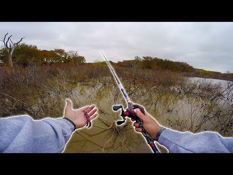 Fishing DEEP in a SHALLOW  MUDDY CREEK !?!?!