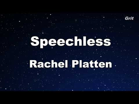 Speechless - Rachel Platten Karaoke 【No Guide Melody】Instrumental