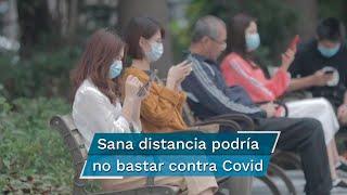 """Científicos de la Universidad de Florida indicaron que los pacientes con Covid-19 producen aerosoles -suspensión de partículas diminutas en el aire- que contienen coronavirus """"viable"""" que pueden transmitir a otra persona"""