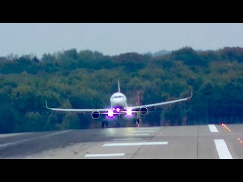 Windy Takeoff´s and Landing´s at DÜSSELDORF AIRPORT [FULL HD] [2017]