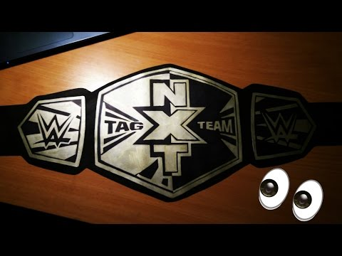How to make NXT Tag Team Championship title belts
