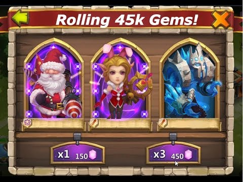 Castle Clash: Rolling 45K Gems For Christmas | Rolling Candy Kane