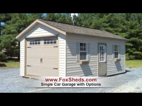 Single Car Garage Shed From Fox 39 S Country Sheds Youtube
