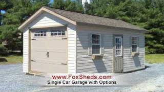 Single Car Garage Shed From Fox's Country Sheds