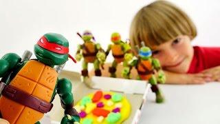 Пицца для Микеланджело - Игры в Черепашки Ниндзя и Плей До