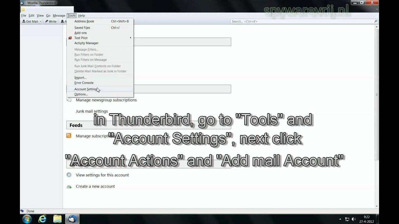 posta gmail su thunderbird