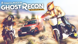 ЖАРКАЯ ПОГОНЯ С МОТОПАРКУРОМ ПО ГОРАМ В GHOST RECON WILDLANDS