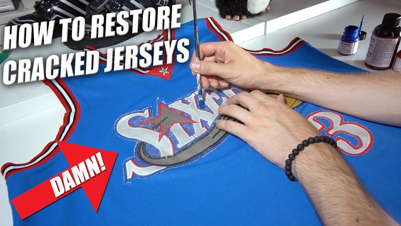 How to repair a jersey number (affordable and easy) - YouTube