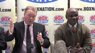 FRANK WARREN BLASTS CHRIS EUBANK & BRANDS HIM
