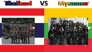 Thailand VS Myanmar military power comparison 2018