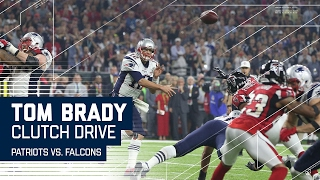 tom brady leads clutch game tying drive patriots vs falcons super bowl li highlights