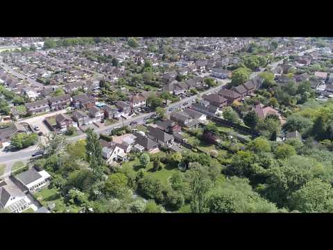 Hockley Essex from above in 4K