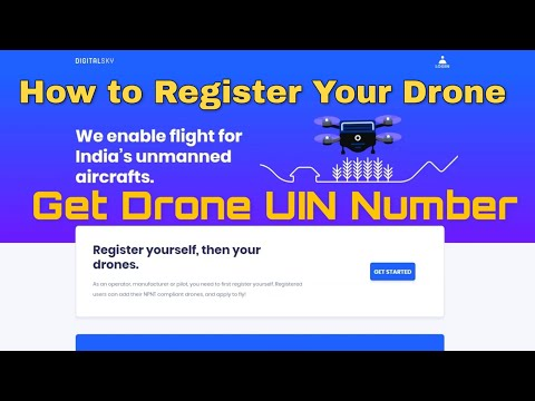How to Get UIN number | Register Drone DGCA website | Indian Drone Rules Regulations Dec 2018 India