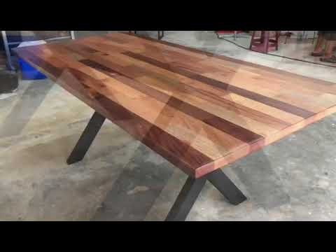 Ladubee Dining Meeting Table With Meranti Wood Brown 7ft X 3ft X 2 5ft 15s Youtube