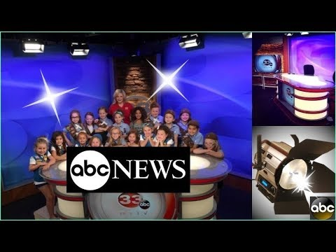 Broadcast studio lighting for TV news, newsroom set design