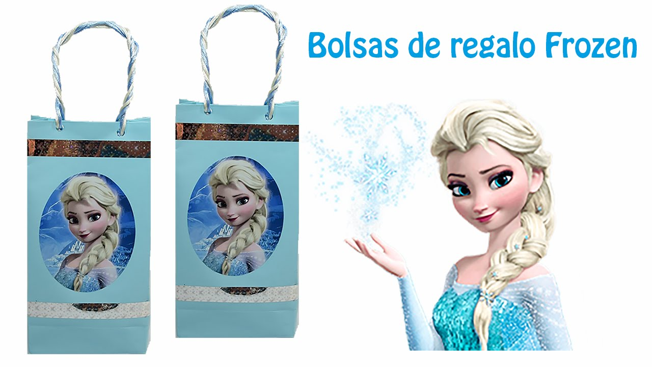 Como hacer bolsas de regalo de frozen - Como hacer bolsas de regalo ...