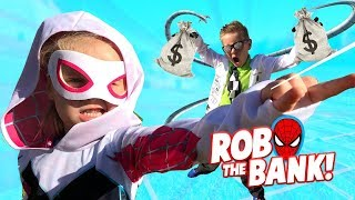 Spider-Man ROB the BANK game for kids! | KIDCITY