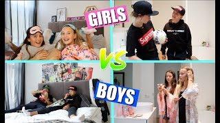 GIRLS VS BOYS | SLEEPOVER (English subtitles)