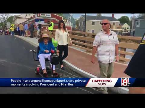 'It hurts' Kennebunkport residents to news of Barbara Bush's declining health