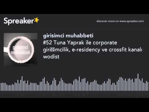 #52 Tuna Yaprak ile corporate girişimcilik, e-residency ve crossfit kanalı wodist