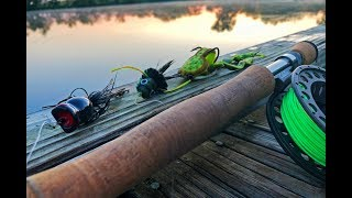 EPIC Topwater Fly Fishing For Bass! FUNNY FAIL!