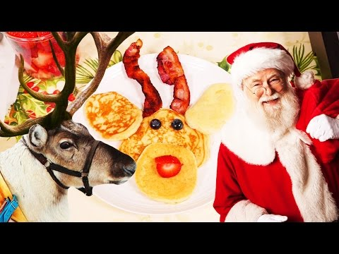 #RecipesForKids: Cooking deer pancakes for Christmas! Kids party food video for children