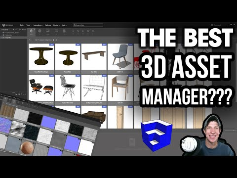The Best FREE 3D ASSET MANAGER? Managing 3D Model and Material Libraries with Connecter!