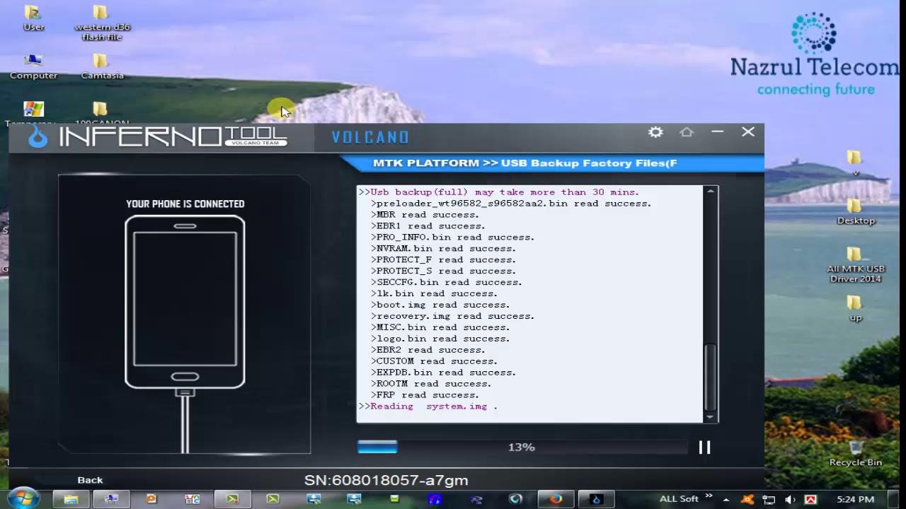 Huawei LUA-U22 Read Flash done by Inferno Tool by Nazrul Telecom