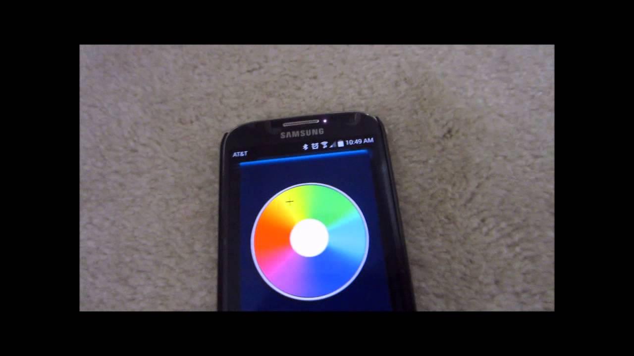 Philips Illuminate LED Customizable Lighting System Demo - YouTube