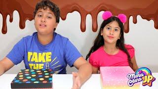DESENHO Vs CHOCOLATE Vs BRINQUEDO com Maria Clara e JP ♥  Stories for kids about sweets & candies