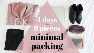 MINIMALIST LONG WEEKEND PACKING | 8 pieces, 4 days mini capsule