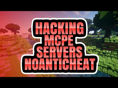 HACKING IN MCPE SERVERS WITH NO ANTICHEAT