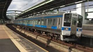 415系・普通 スペースワールド駅を発車 JR九州 鹿児島本線 2018年1月1日