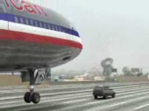 Plane Lands On Guys Car On Freeway Having A Bad Day