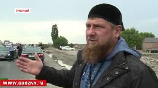 Рамзан Кадыров ознакомился с ходом работ на улицах Ханкальская и Узуева