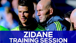 Zidane's First Real Madrid Training Session | REAL MADRID NEWS