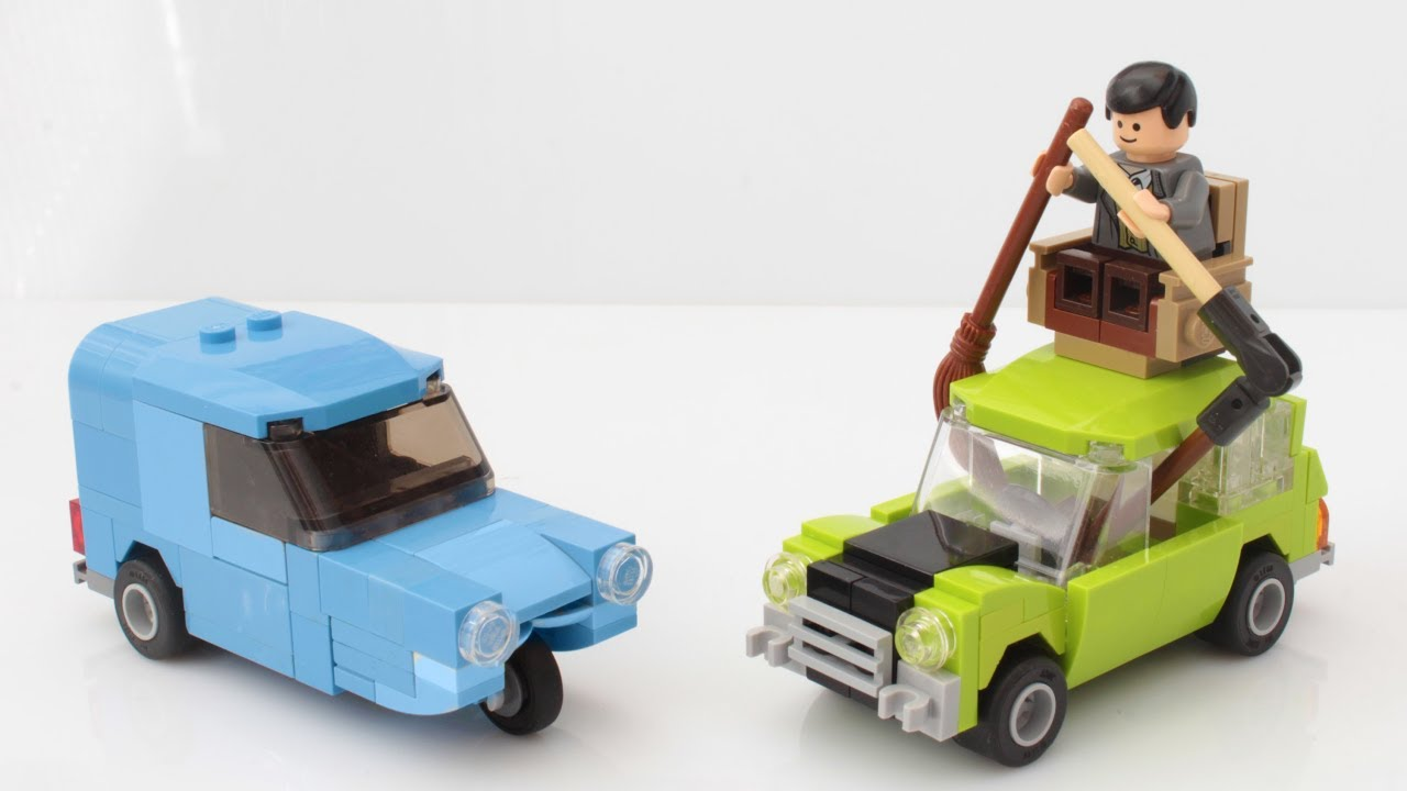 Lego Mr Bean Mini And Blue Reliant Car With Instructions Youtube