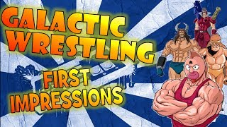 Barbed Wire Concrete Deathmatch | Galactic Wrestling Featuring Ultimate Muscle First Impressions