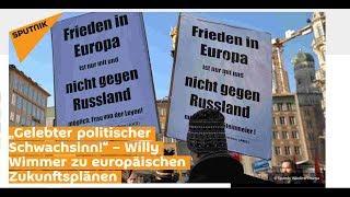 """""""Gelebter politischer Schwachsinn!"""" – Willy Wimmer zu europäischen Zukunftsplänen"""