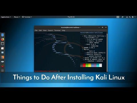 Cấu hình Kali Linux 2018.2 sau khi cài đặt