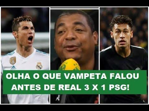ANTES do JOGÃO! OLHA o que Vampeta esperava de Real x PSG!