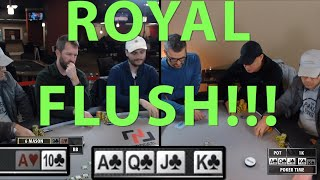 Poker Time: A ROYAL FLUSH Gets Made, and Other Great Action