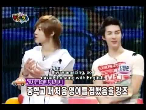 [ENG SUB] SS501 Kim Hyun Joong sing a children song in english