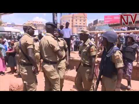Police intervenes as KCCA officials clash with street vendors